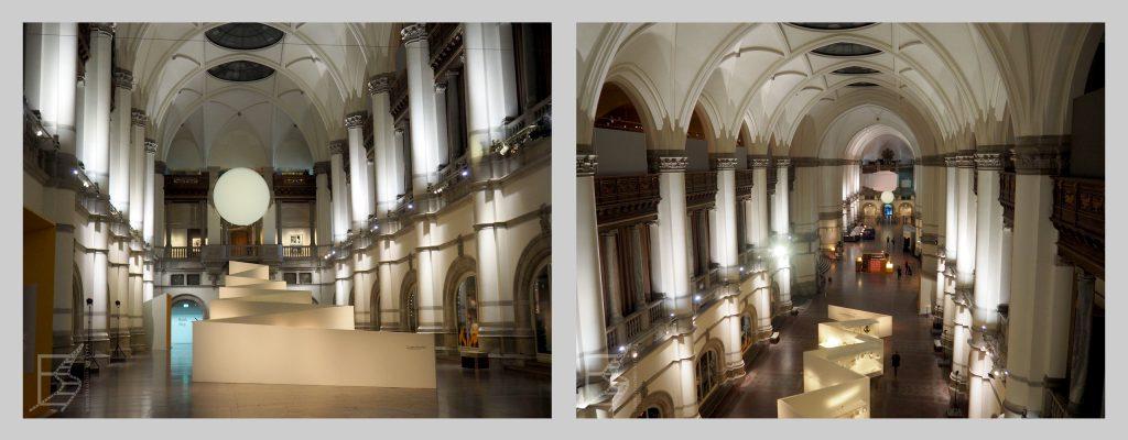 Wnętrze Muzeum Nordyckiego w Sztokholmie