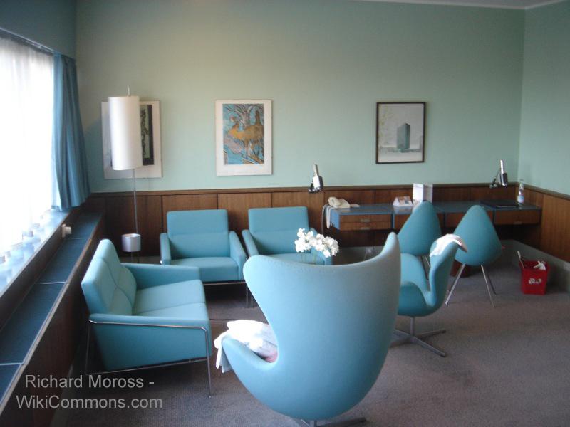 Wnętrze skandynawskie w pokoju hotelowym SAS w Kopenhadze